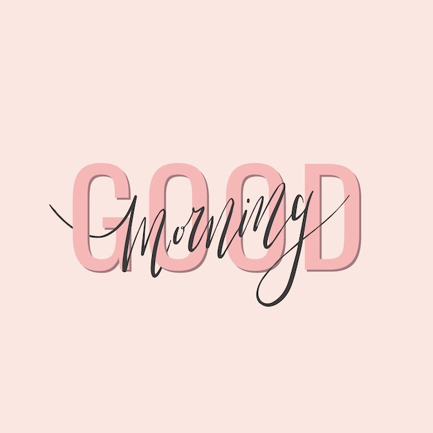 Good morning handwritten typography Free Vector