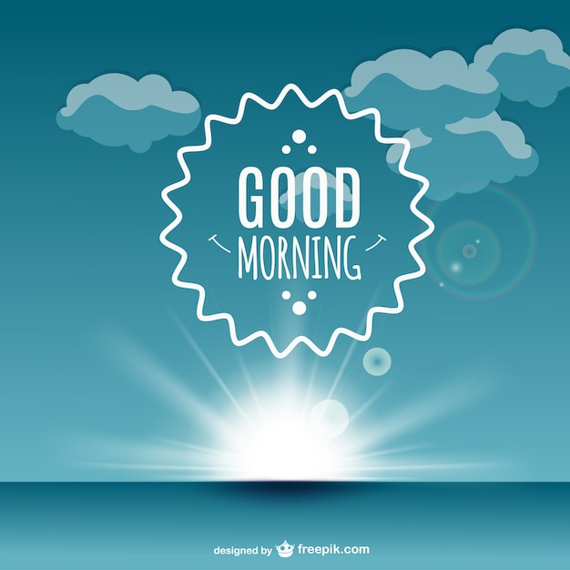 Good Morning Label Vector Vector Free Download