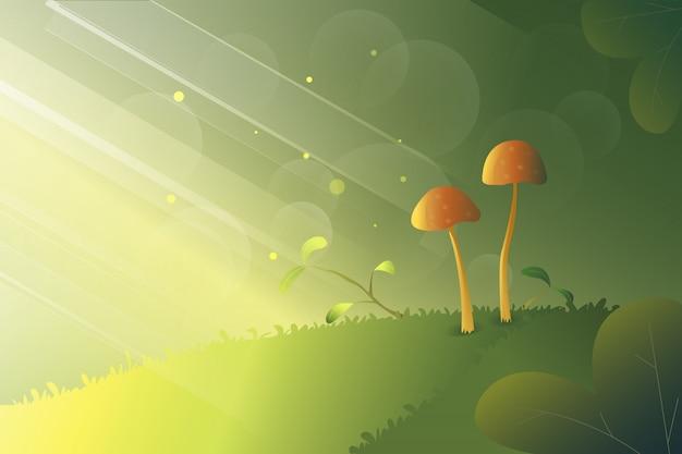 Good morning mushrooms Premium Vector