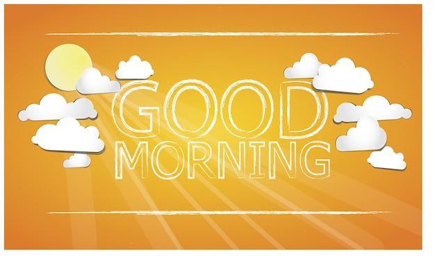 Good morning orange background Free Vector