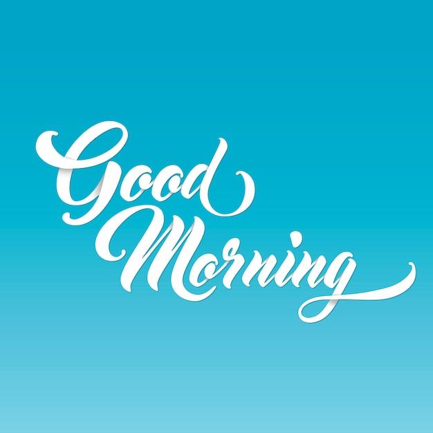 Доброе утро Premium векторы