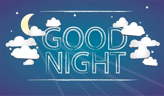 Good night blue bakcground Vector | Free Download