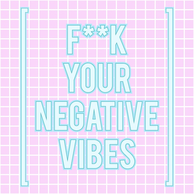 Good vibes only poster Premium Vector