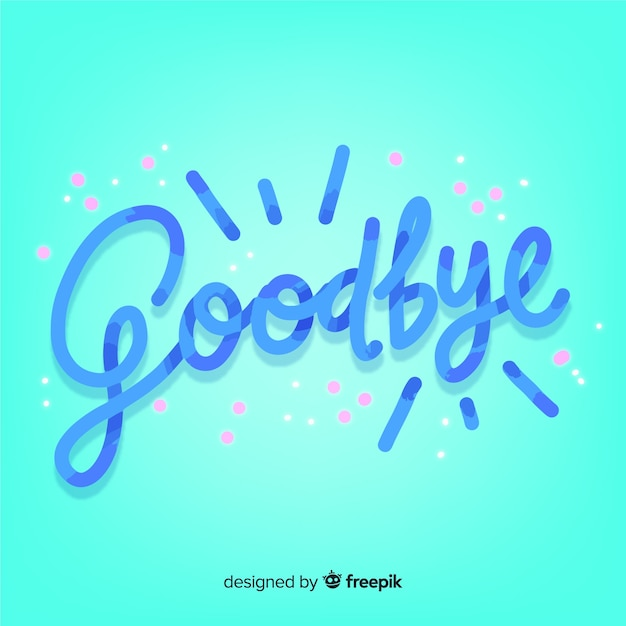 Goodbye lettering background Free Vector