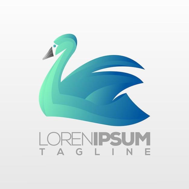 Goose logo template Premium Vector