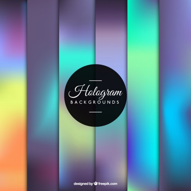 Free Vector Gorgeous Hologram Background