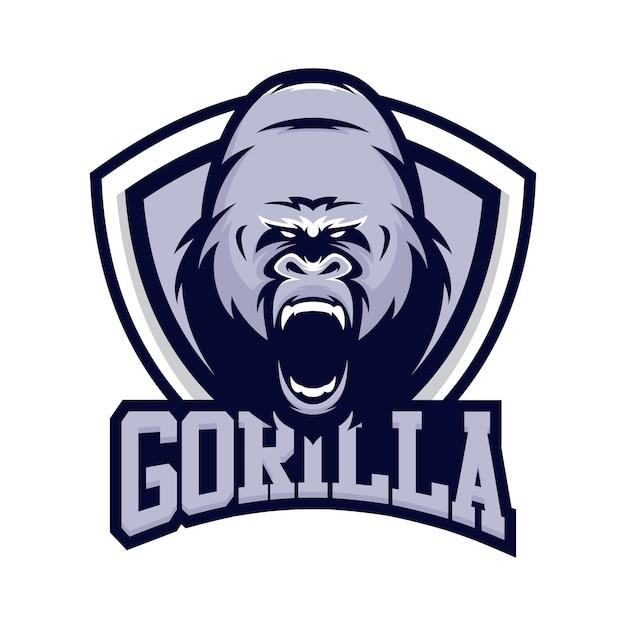 gorilla animal sport mascot head logo vector vector Sweet Bulldog Clip Art Mascot Standing Bulldog Mascot