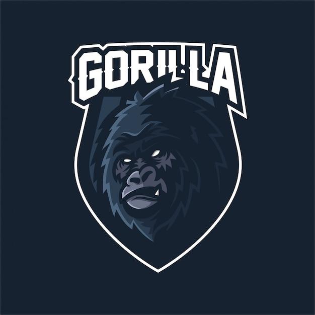 Шаблон логотипа mascot gorilla esport Premium векторы