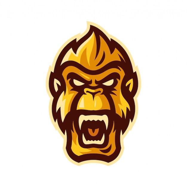 Gorilla esport logo mascot vector illustration Premium Vector