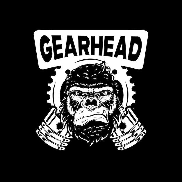 Premium Vector Gorilla Head Illustration