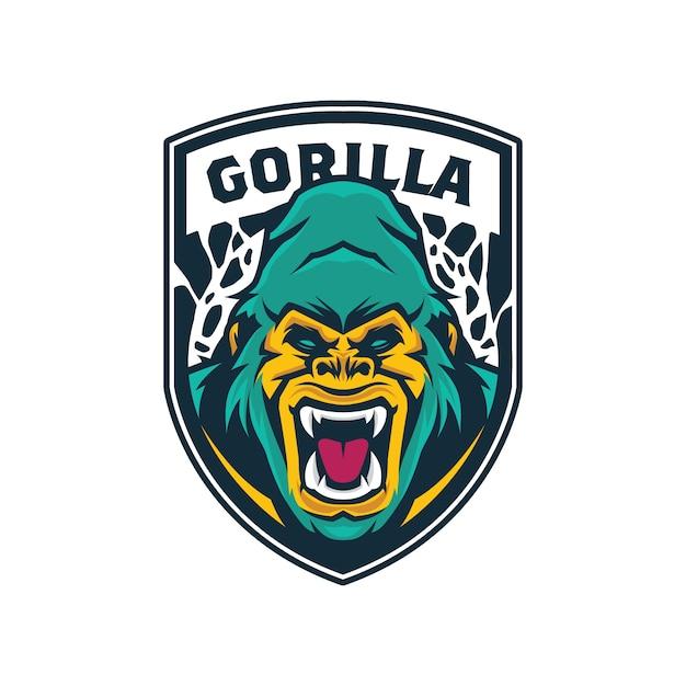 Gorilla Head Logo Premium Vector