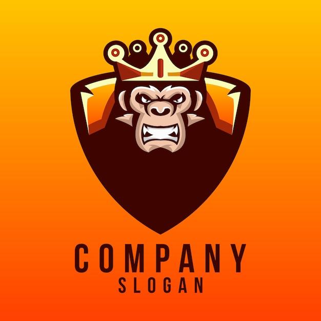 Дизайн логотипа гориллы Premium векторы