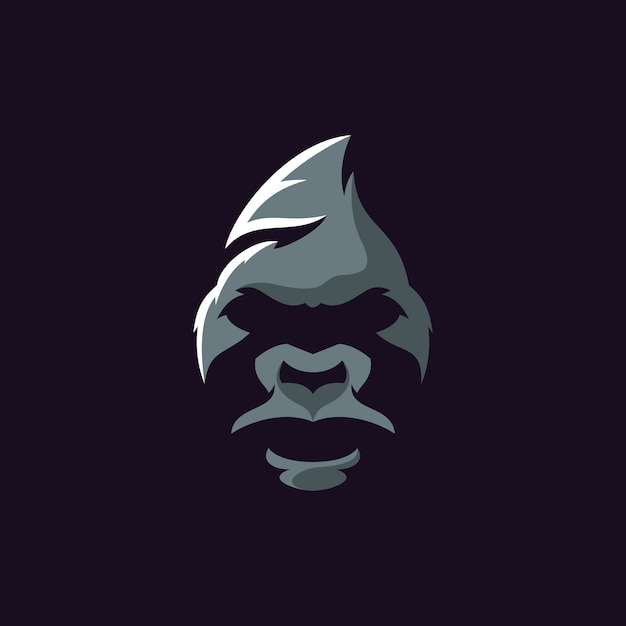 Gorilla logo illustrator Premium Vector