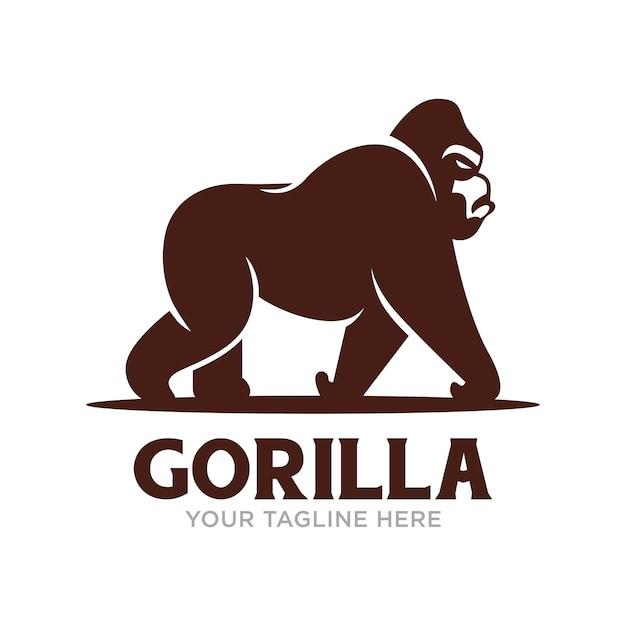 Gorilla logo isolated Premium Vector
