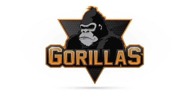 Gorilla logo for a sport team Premium Vector