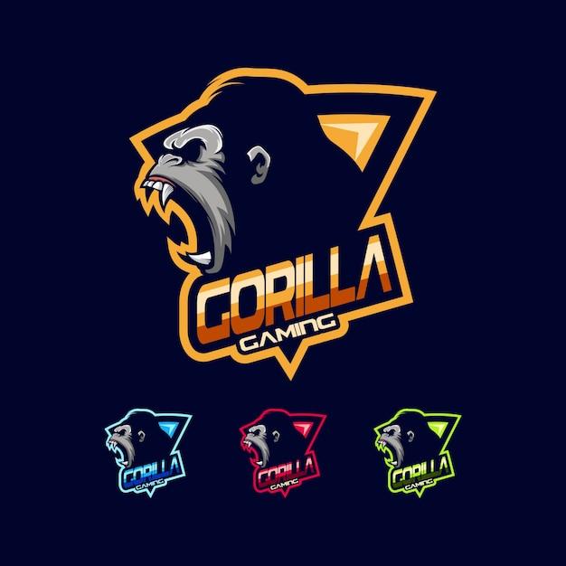 Gorilla logo vector Premium Vector