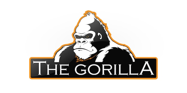 Логотип гориллы Premium векторы