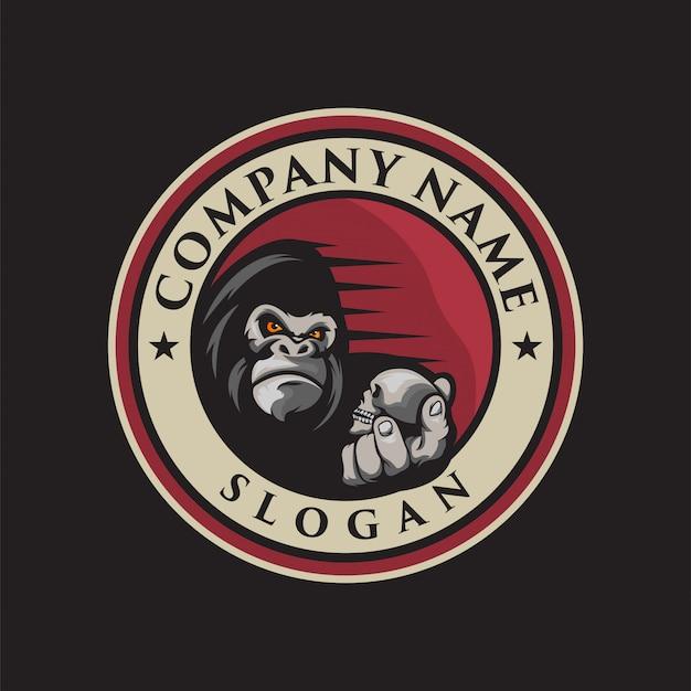 Gorilla logo Premium Vector