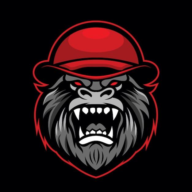 Gorilla mascot logo Premium Vector
