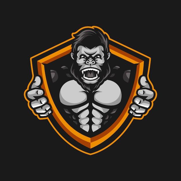 Gorilla mascot Premium Vector