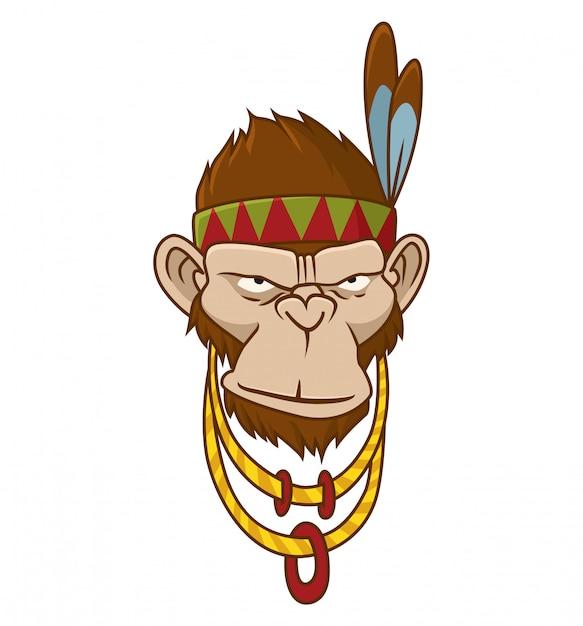 Gorilla, monkey, ape Premium Vector