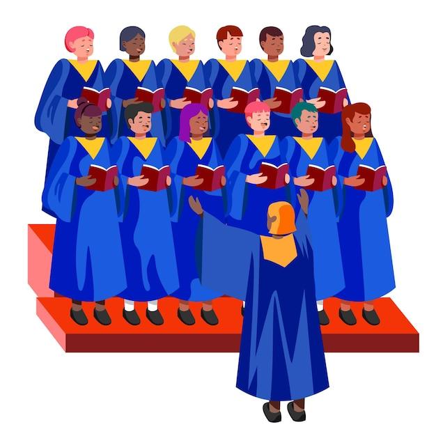 Евангелие хор иллюстрация Бесплатные векторы
