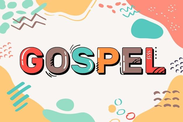 Шаблон концепции слова евангелие Бесплатные векторы