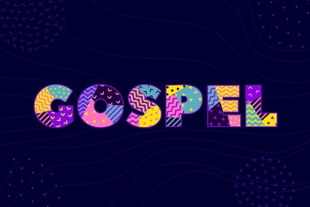 Евангелие слово концепция Бесплатные векторы