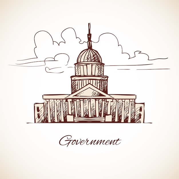 Government building design Free Vector