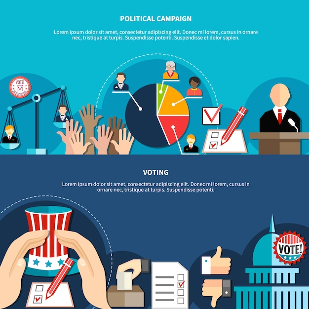 Government elections concept Free Vector