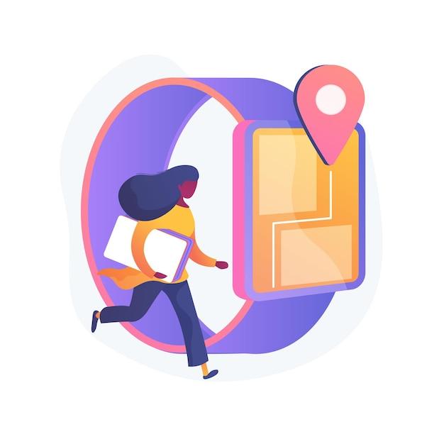 Il tracker gps per bambini guarda l'illustrazione astratta del concetto Vettore gratuito