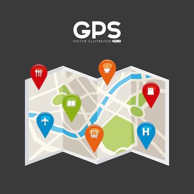 Gps signals Premium Vector