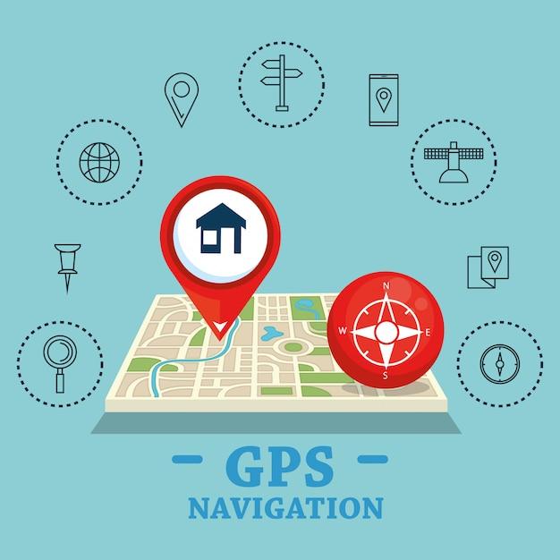 Gps-навигация набор иконок Бесплатные векторы