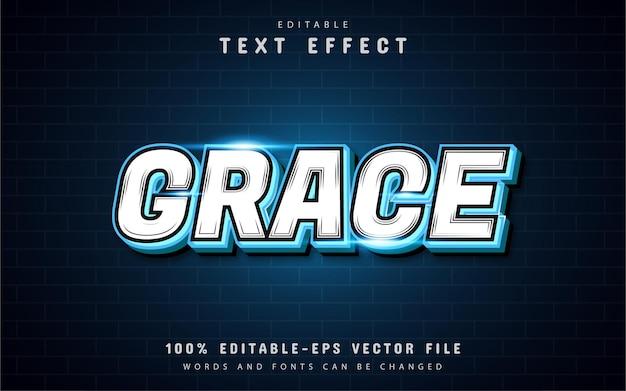 Текстовый эффект grace Premium векторы