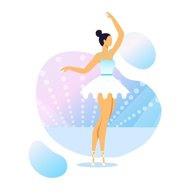 Graceful ballerina performance vector illustration Premium Vector