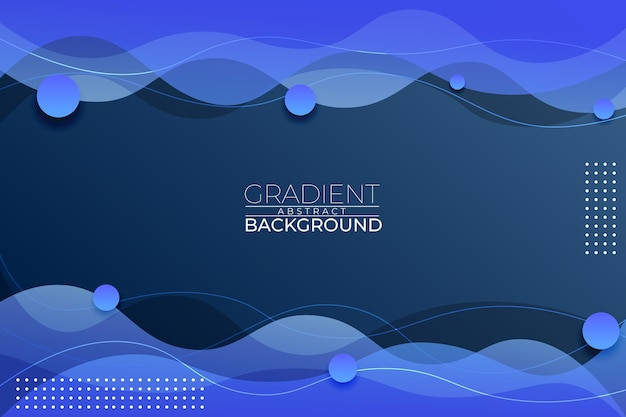 Gradient abstract background blue style Premium Vector