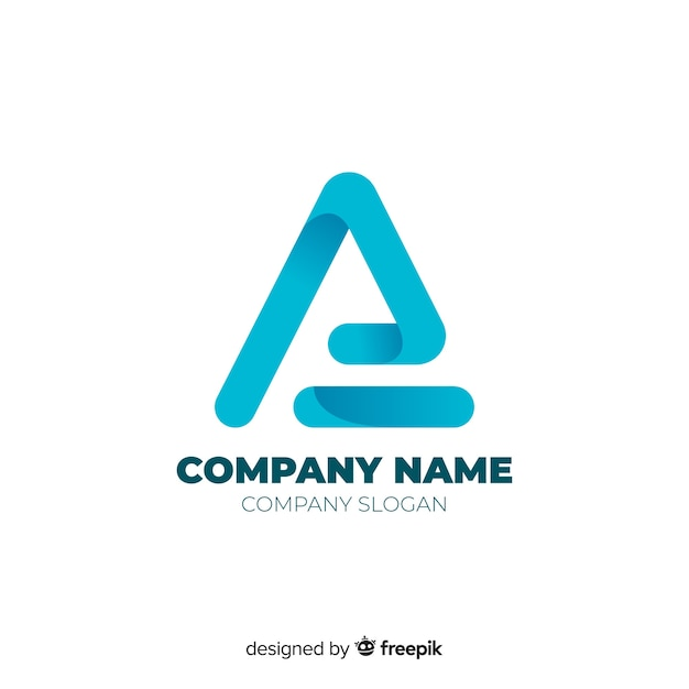 Gradient abstract company logo template Free Vector