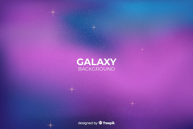 Gradient abstract galaxy background Free Vector