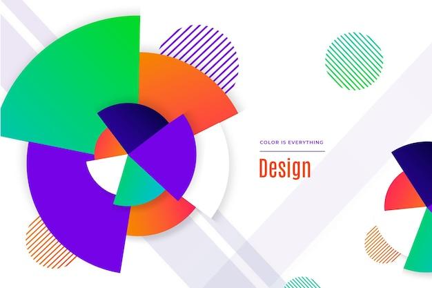 グラデーションの抽象的な幾何学的形状の背景 無料ベクター