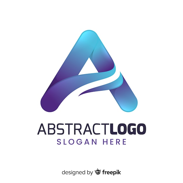 Gradient abstract logo template Free Vector