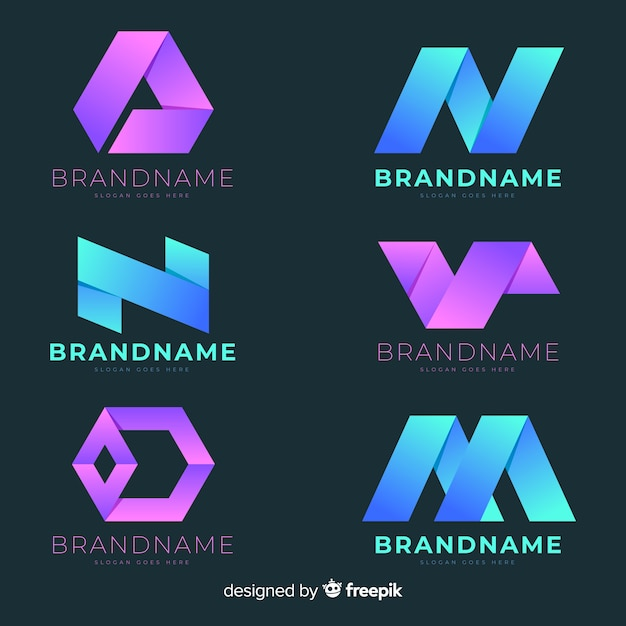 Gradient abstract logo Free Vector