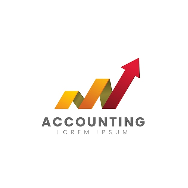 Gradient accounting logo template Free Vector