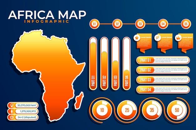 Градиент африки карта инфографики Бесплатные векторы