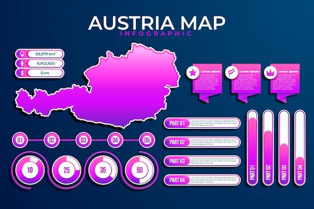 Градиент австрии карта инфографики Бесплатные векторы