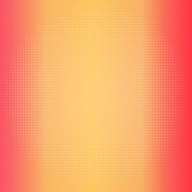 하프 톤 도트가있는 따뜻한 색상의 그라디언트 배경 프리미엄 벡터