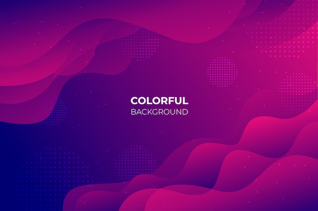 Gradient background with abstract shapes Free Vector