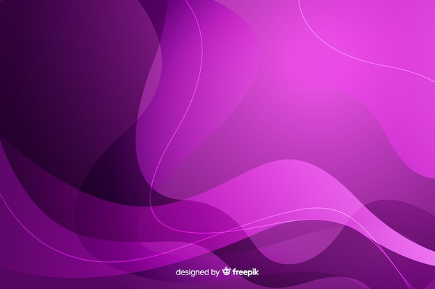 Gradient background with dynamic shapes Free Vector