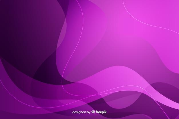 Градиентный фон с динамическими формами Бесплатные векторы