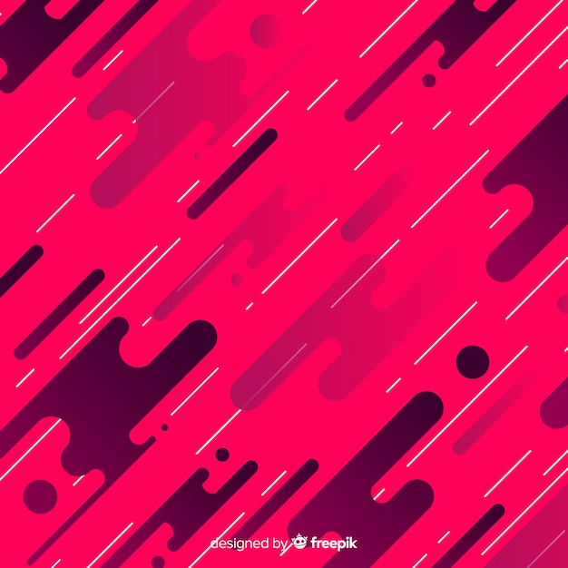Free Vector Gradient Background With Dynamic Shapes