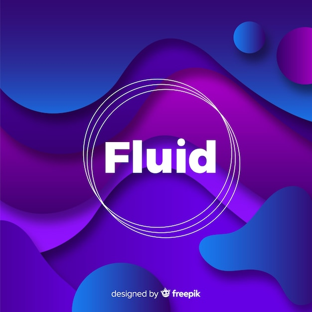 Gradient background with fluid shapes Free Vector